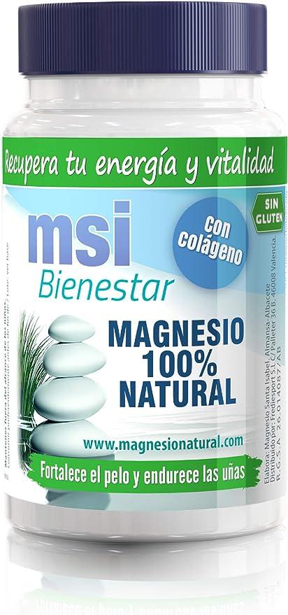 MSI Bienestar Magnesio 100% Natural con Colágeno - 60 cápsulas ...