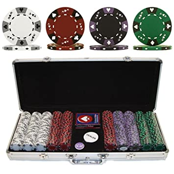 115g 600 casino chip poker set suited new york indian casino