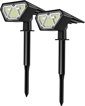 2-Pack Trodeem Solar LED Landscape Spotlights