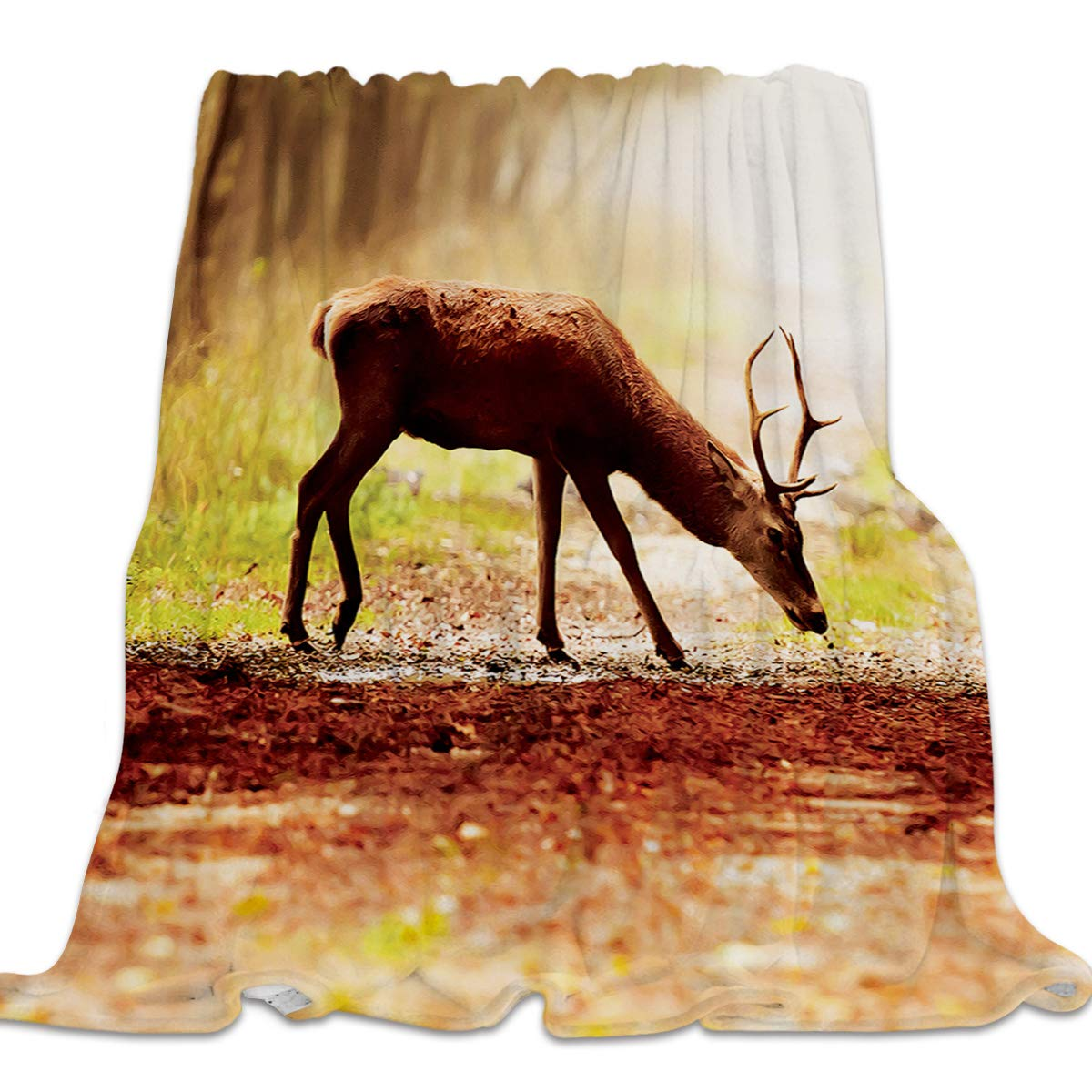 Deer13yag0196 39x49inch=100x125cm 49x59 Inch Flannel Fleece Bed Blanket Soft ThrowBlankets for Girls Boys,Simply Stripe Black and White Pattern,Lightweight Warm Kids Blankets for Bedroom Living Room Sofa Couch Home Decor