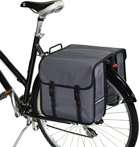 BikyBag-Beluko Clásica Doble Alforjas Bolsa para Bicicleta (Gris ...