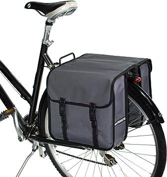 BikyBag Clásica - Doble Alforjas para Bicicletas (Gris): Amazon.es: Deportes y aire libre