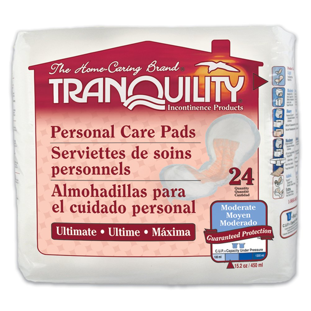 Tranquility Incontinence Personal Care Pads for Men or Women - Ultimate - 96 ct