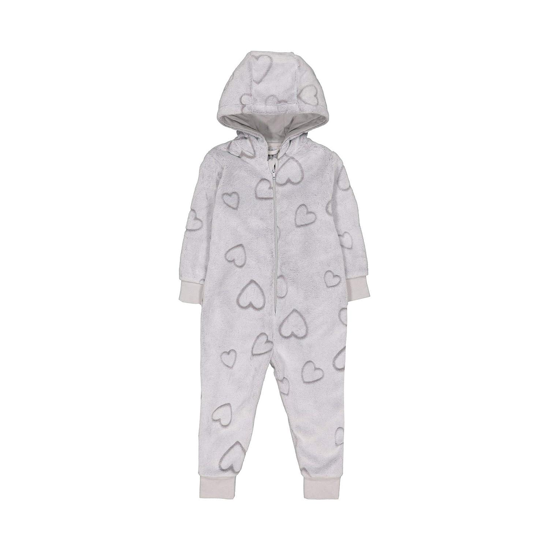 Mothercare Girls Long Sleeve Heart Fluffy Onesie, Ensemble de Pyjama Bébé Fille Ensemble de Pyjama Bébé Fille QD120