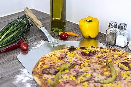 XHH Pelle /à pizza en aluminium 40 x 35 cm avec manche en bois