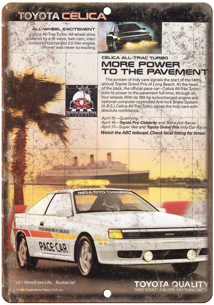 NOT Toyota Celica Turbo Placa de Cartel de Chapa Vintage Retro ...