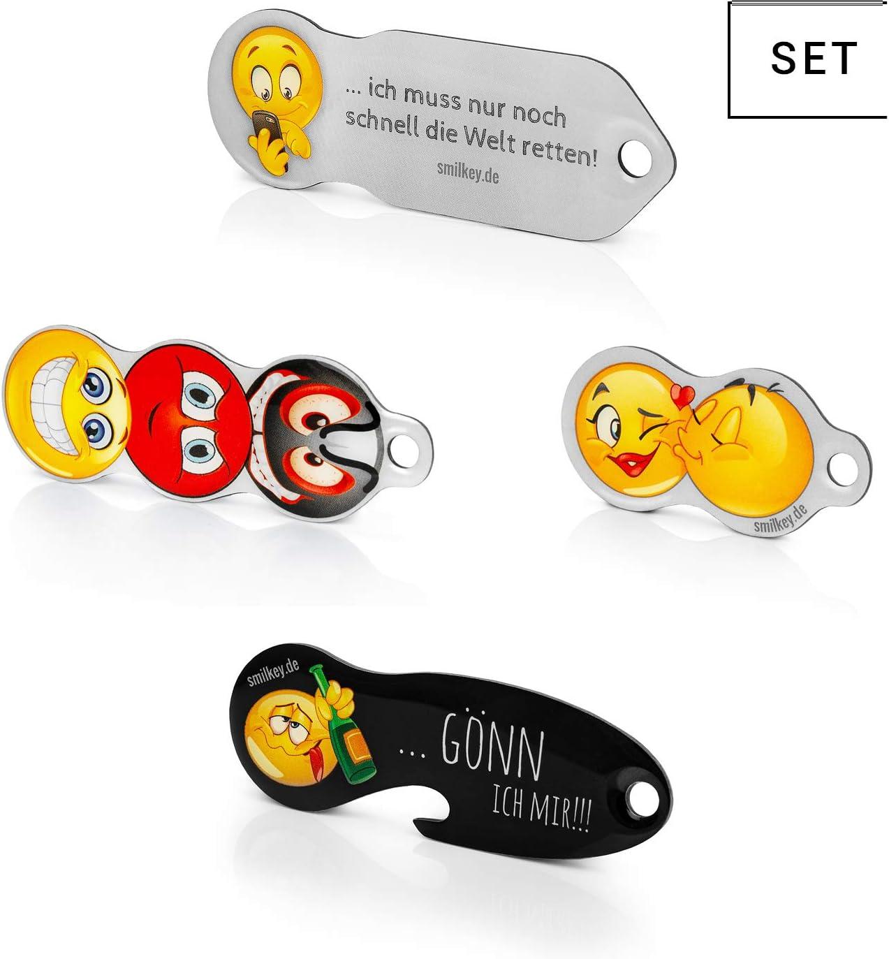 Einkaufswagenlöser 4erSet Smilkey neu-mit Einkaufschip u Schlüsselfinder