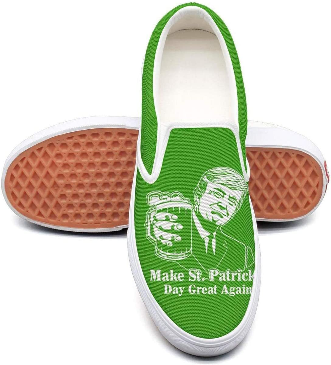 KJGDFS Happy St Patricks Day Logo Green Canvas Shoes Cool Slip ons for boy