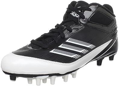 best service d157c 7b9d1 adidas Mens Scorch X SuperFly Mid Football Cleat,BlackWhiteMetallic  Silver,