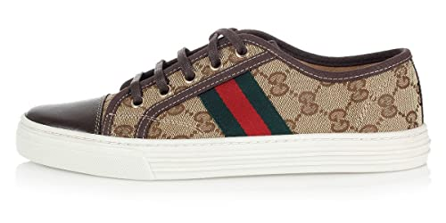 Gucci GG Original de la Mujer Lienzo Low-Top Zapatillas, Beige/Ebony US 6,5 (Gucci/It 36,5) 283792: Amazon.es: Zapatos y complementos