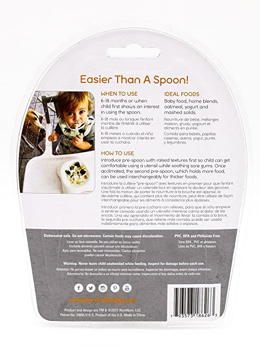 Amazon.com : NumNum Pre-Spoon GOOtensils | 3 Packs Containing 6 Pre-Spoons : Baby