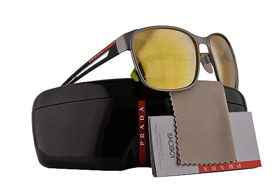 813180b7e561e Image Unavailable. Image not available for. Color  Prada PS52TS Sunglasses  Gunmetal Grey Rubber ...