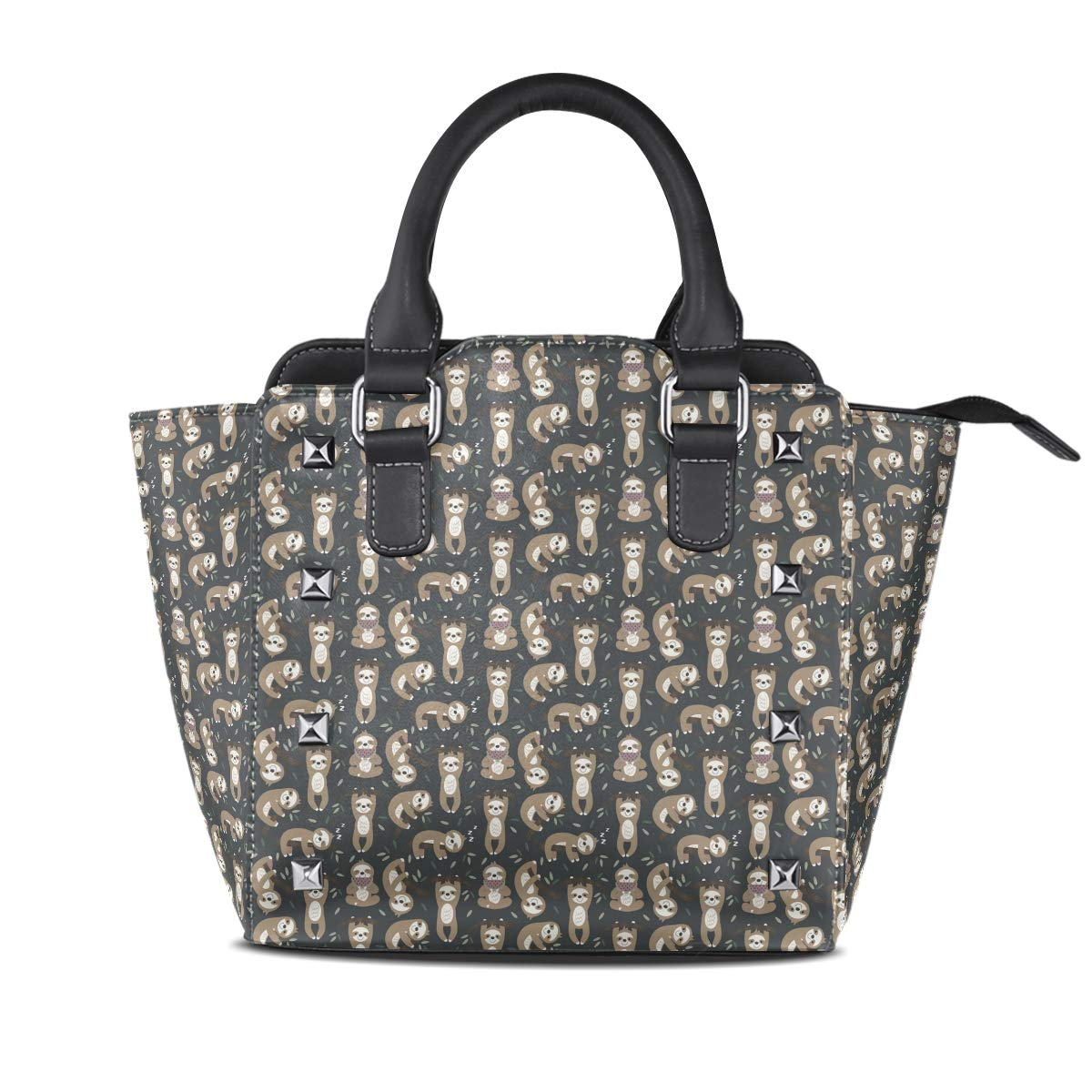 Design 4 Handbag Unicorn Genuine Leather Tote Rivet Bag Shoulder Strap Top Handle Women