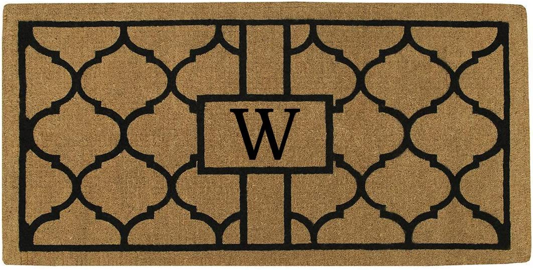 Home More 180083672W Pantera 3 X 6 Extra-Thick Monogrammed Doormat Letter W