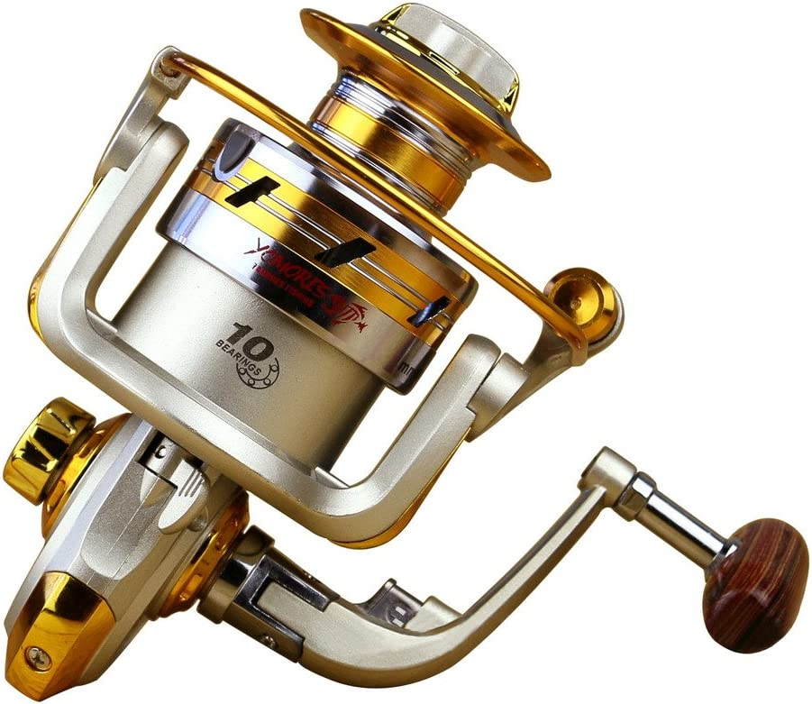 Happy Hours – Ultra Light High Speed Surf Saltwater Freshwater Fishing Spinning Reels With 10 Ball Bearings Gear Ratio 5.5 1