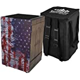 Echoslap Vintage Crate Cajon -Vintage American Flag, Hand Crafted, Siam Oak Body, Plus Gig Back