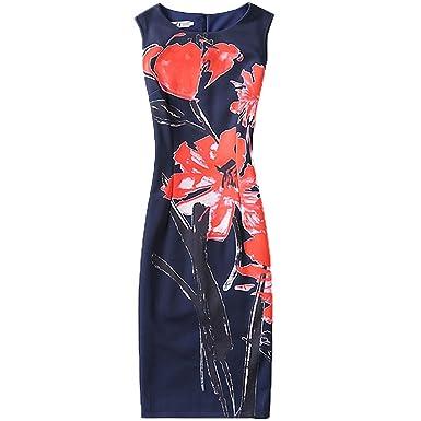 Ygosoon Casual Summer Dress Women 2018 Sexy Slim Floral Vintage Ladies Office Dress Elegant Party Dresses