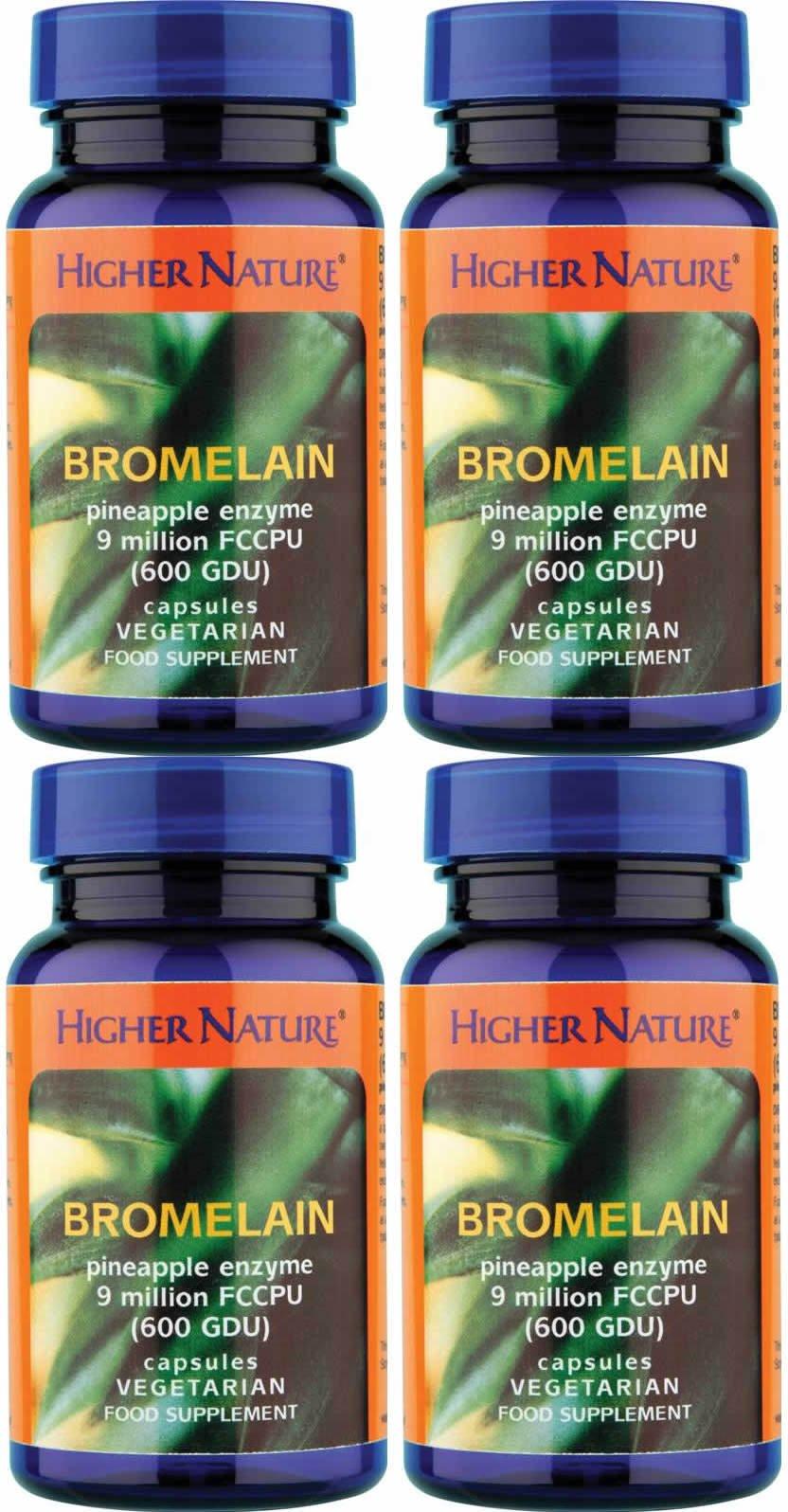 (4 PACK) - Higher Nature - Bromelain   90's   4 PACK BUNDLE