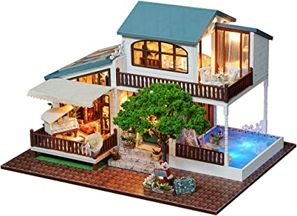 Searchyou - Casa de muñecas Madera en Miniatura con Muebles ...
