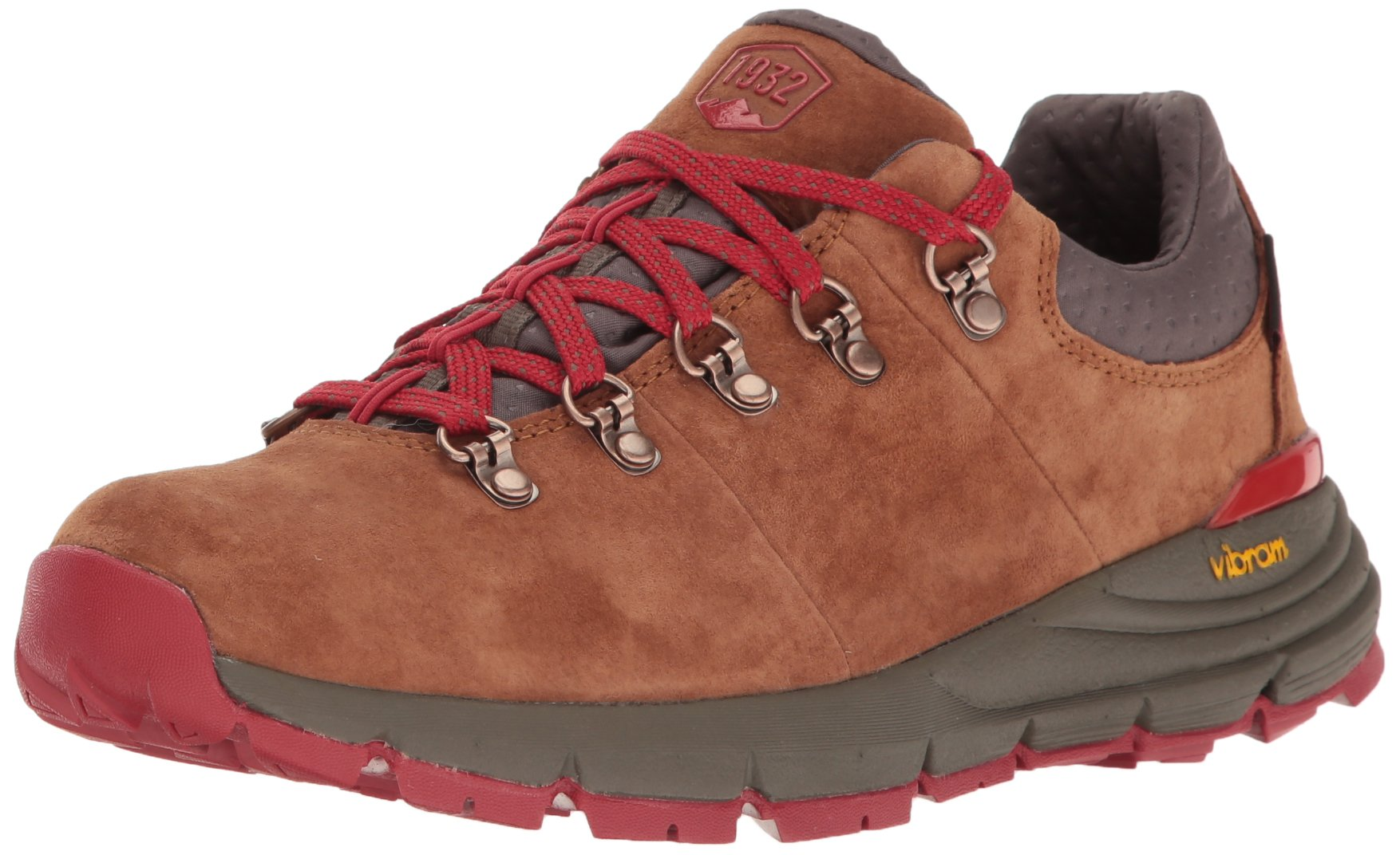 Danner Women's Mountain 600 Low 3'' Hiking Boot, Brown/Red, 6.5 M US