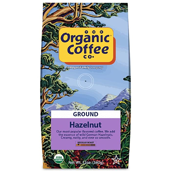 The Organic Coffee Co. Hazelnut Ground Coffee