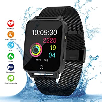 Qimaoo Smartwatch, Reloj Inteligente Hombre Mujer IP68 Impermeable ...