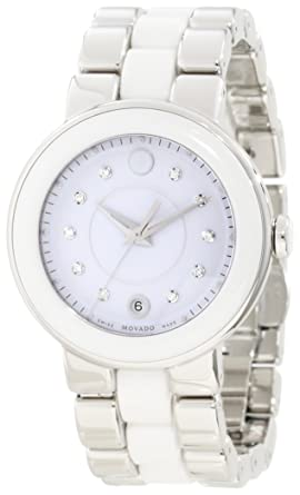 """343112841 Image Unavailable. Image not available for. Color: Movado Women's 0606540  """"Cerena"""" Stainless Steel Diamond-Accented Watch"""