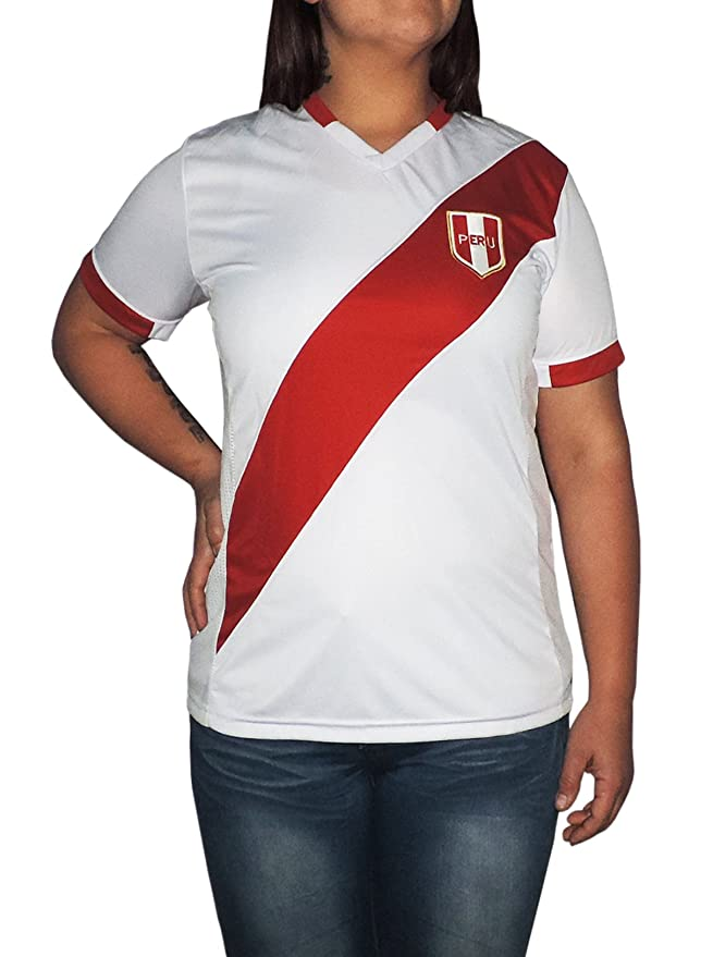 Amazon.com: Ama Quella Crafts Peru Soccer Jersey Replica for Women, White Or Red. Russia World Cup 2018. Camisetas Seleccion Peruana de Futbol: Clothing