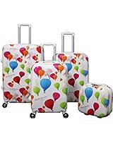 World Traveler 4-Piece Lightweight Spinner Luggage Set
