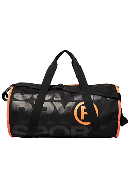 SUPERDRY XL Sports Barrel Black Hazard Orange Duffel, Sport, Travel Bag  MS4001MR-AOC  Amazon.co.uk  Luggage e9a052d6e5
