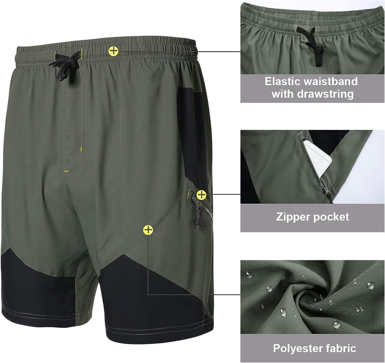 Santic Mens Padded Mountain Bike Shorts Loose-fit Lightweight MTB Shorts for Men Hebre