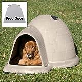 Petmate Indigo Dog House with FREE Dog Door