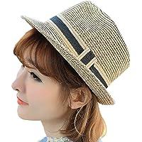 Leisial Sombrero de Paja Jazz Gorro de la