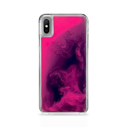 coque iphone xr liquide fluo