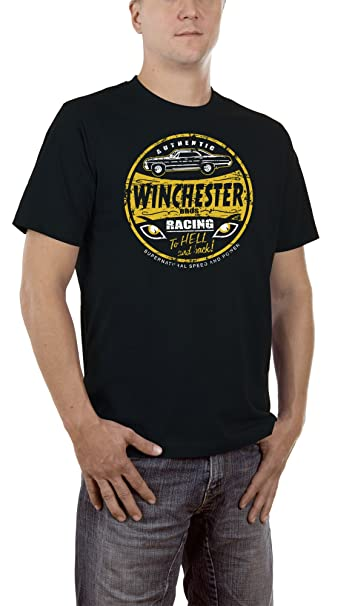 Touchlines Winchester Racing To Hell T Shirt Homme Amazon Fr