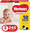 HUGGIES Snug & Dry Baby Diapers, Size 2 (fits 12-18 lbs.