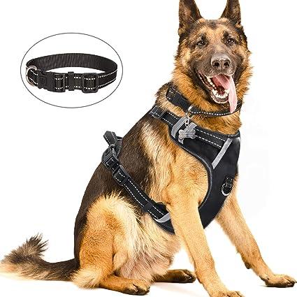 M, Black Large /& XL, ODN Adjustable Pet Dog Harness Small Medium