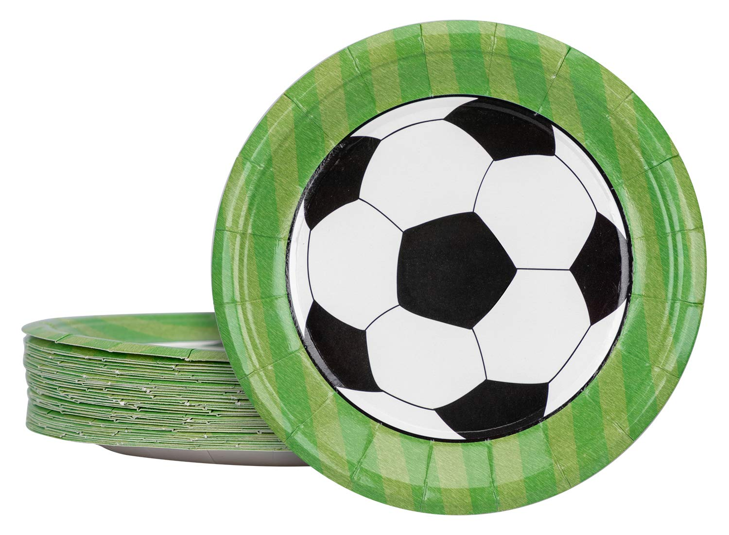 2018 World Paper Plates Party Supplies- Soccer Game Birthday Dinnerware Decorations 36Ct