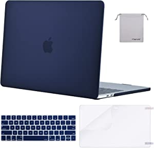 MOSISO MacBook Pro 15 inch Case 2019 2018 2017 2016 Release A1990 A1707, Plastic Hard Shell Case&Keyboard Cover&Screen Protector&Storage Bag Compatible with MacBook Pro 15 Touch Bar, Navy Blue