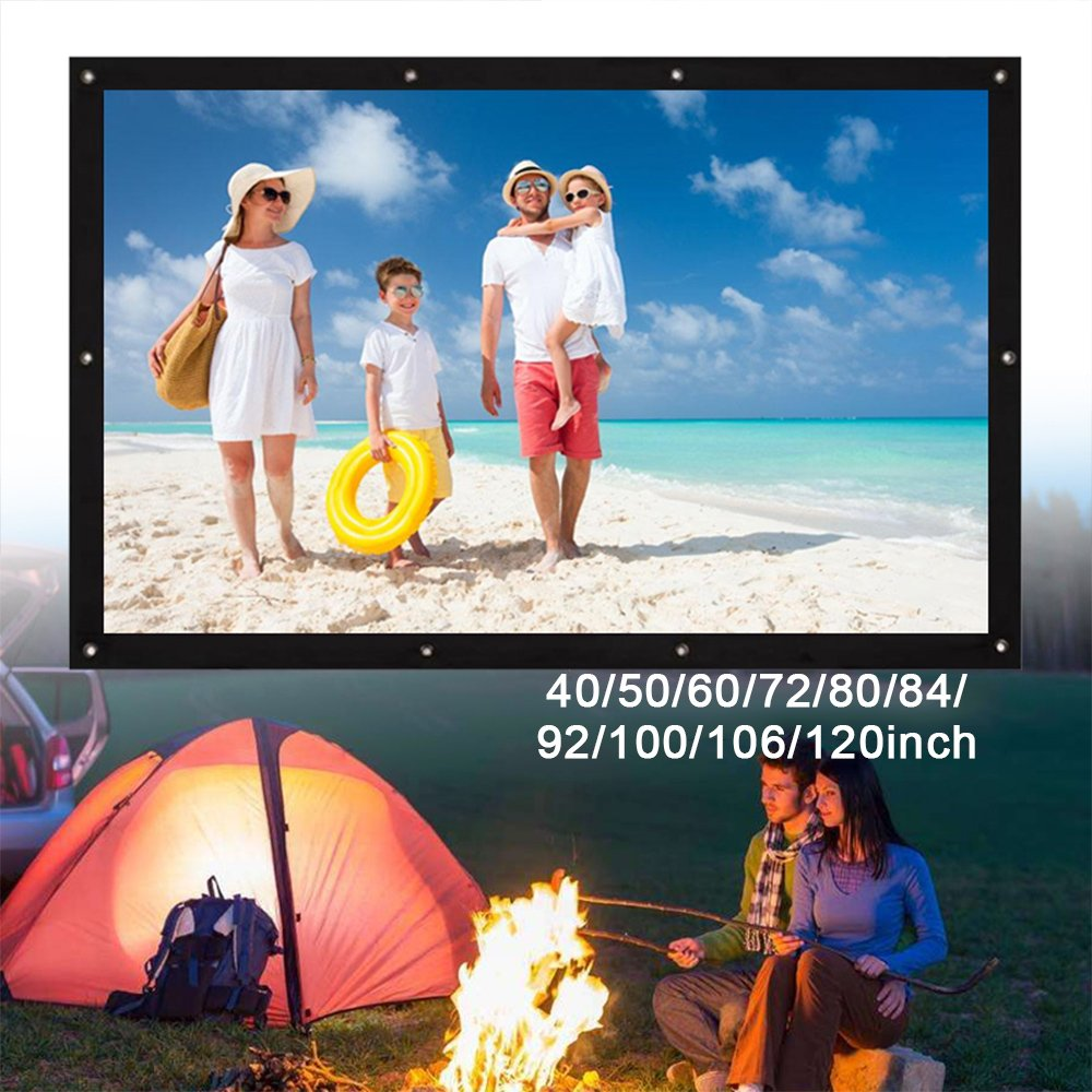 Folded Projection Screen Projector Screen Portable 4:3 40//72//100//106 School Home Theater/_40 inches