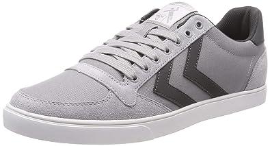 543153e85ef hummel Unisex-Erwachsene Slimmer Stadil Canvas Low Sneaker Grau (Alloy  1100) 36 EU