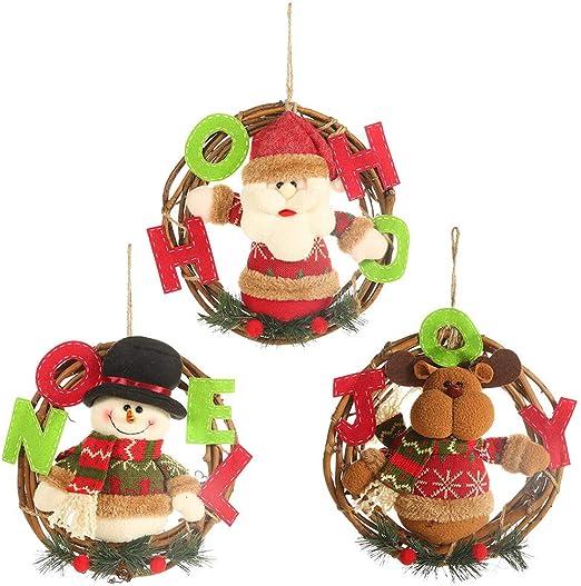 Christmas Party Decoration Door Hanging Santa Claus Snowman Xmas Decor Gifts LC