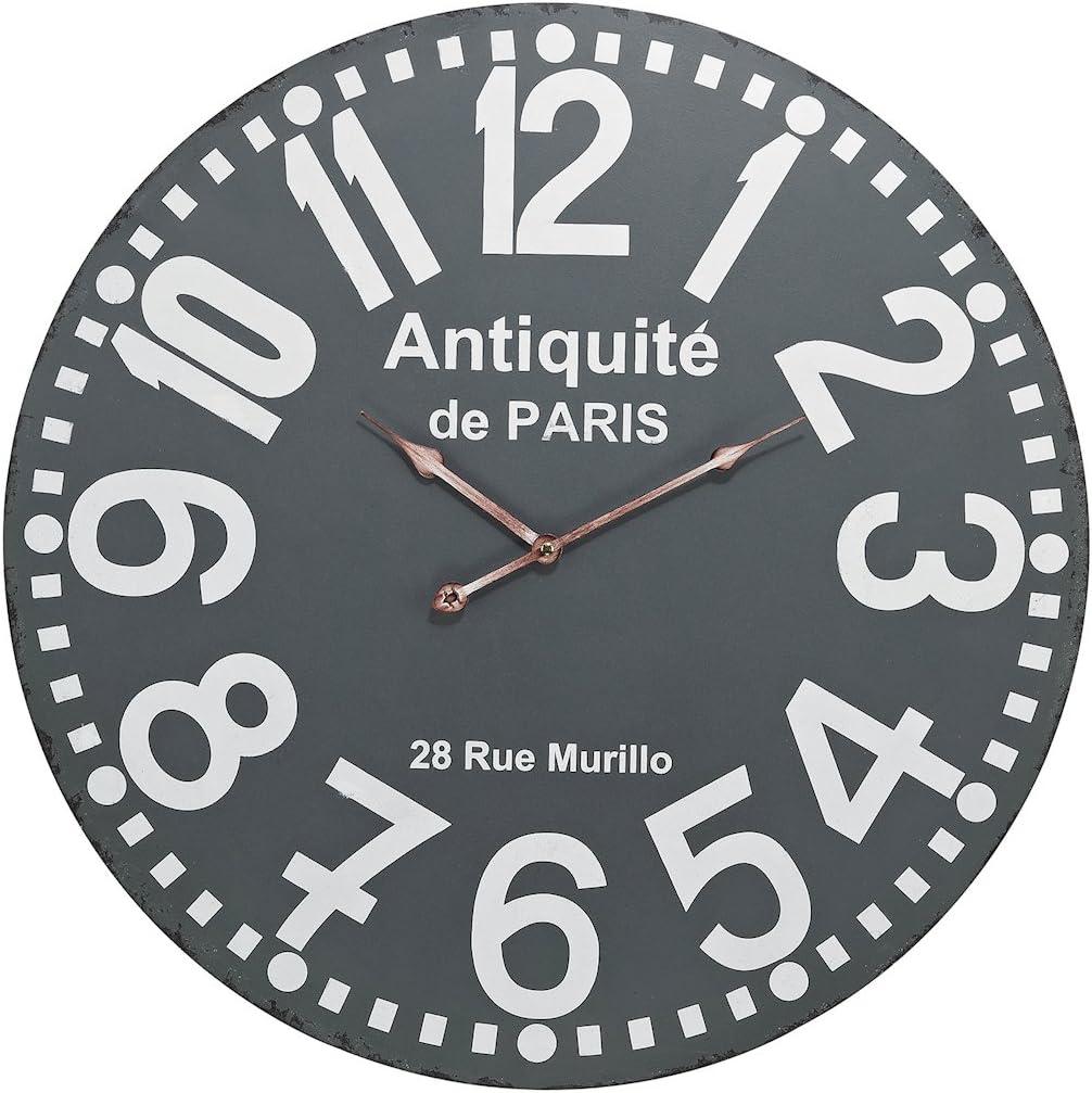 ELK Lighting Antiquite Wall Clock, Grey, White