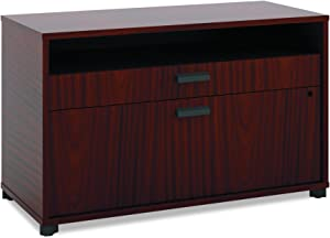"The HON Company HON Manage File Center | 1 Shelf / 2 Drawers | 36""W | Chestnut Finish, Inch"
