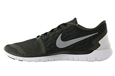 Nike Mens Free 5.0 Print Running Shoes (Cargo Khaki) Size 10
