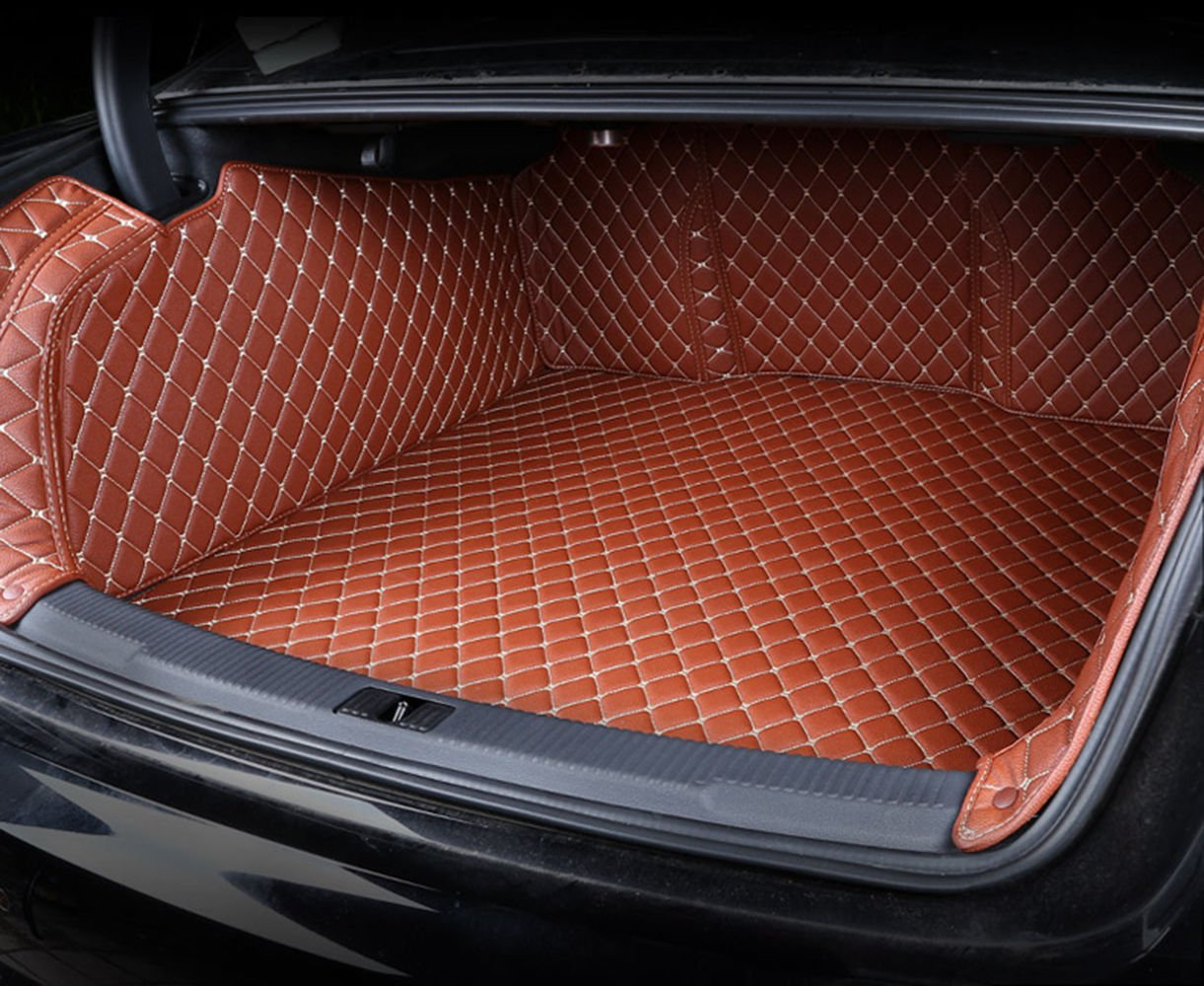 Worth-Mats 3D Full Coverage Waterproof Car Trunk Mat for BMW X1 2016-2019 -Brown