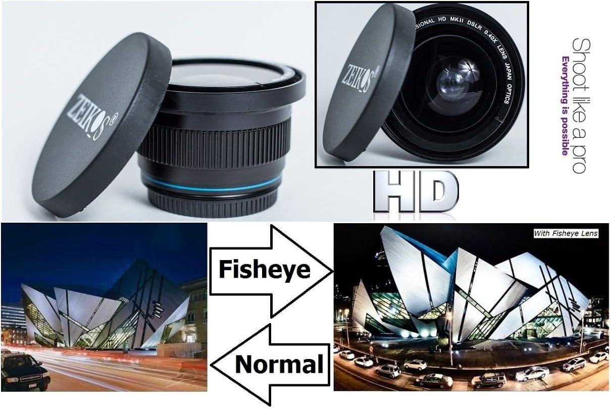 Super Wide 0.40X HD Fisheye Macro Lens for Canon 18-55mm Lens