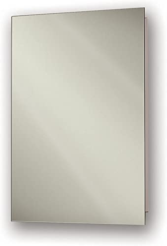 Jensen 807P24WHX Polished Edge Mirror Medicine Cabinet, 16 x 26