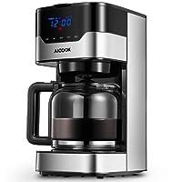 Aicook Kaffeemaschine, Touchscreen-Filterkaffeemaschine, 12 Tassen Programmierbare Kaffeemaschine, Display mit Uhr, 51oz Wassertank und 1,5 Liter Glaskanne, Einstellbares Kaffeearoma, 900 Watt