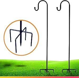 XDW-GIFTS Shepherd-Hooks for Bird-Feeder Lantern Plant-Hook Garden-Stake - 35 Inch 2 Pack Plant Stand Hanger for Outdoor Flower Basket Bird Feeder Hanger Weddings Décor